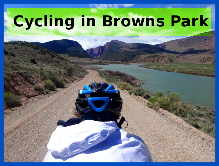 cycling in Browns Park Wildlife Refuge, Colorado