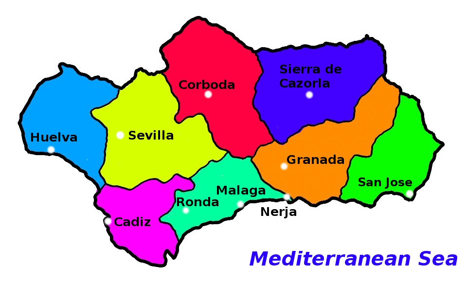 Free Things To Do In Andalusia Spain - Map of andalusia