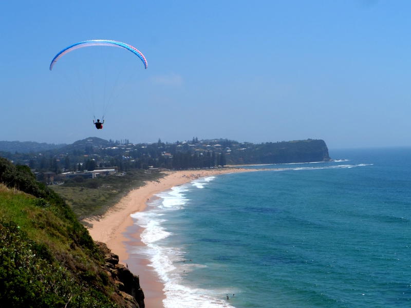 paragliding at Cooks Terrace