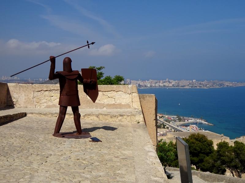 knight fiercly defending Santa Barbara Castle