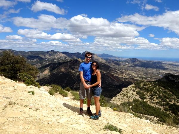 hiking up Silla del Cid, Elche Spain