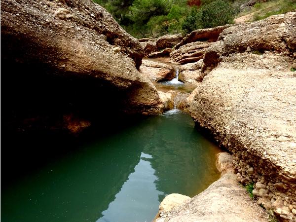 Wild swimming hole in Rio Chicamo