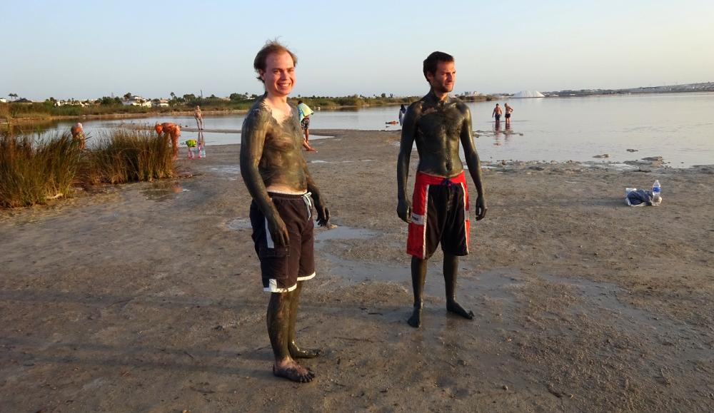 spa mud bathing at torrevieja's pink lake