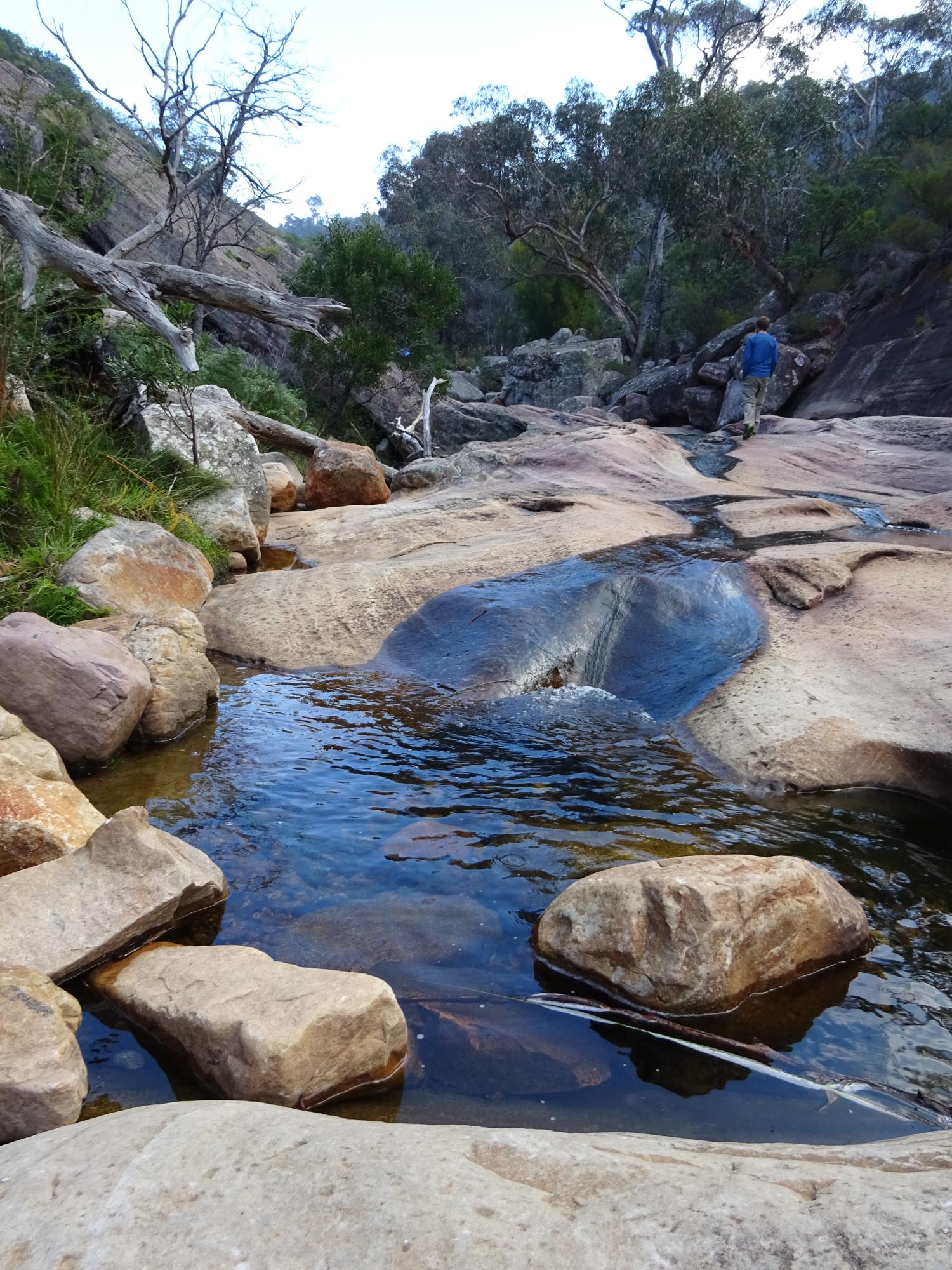 Venus baths rock slides in the Grampians